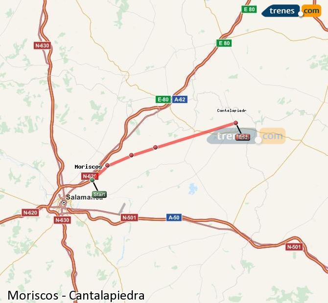 Ampliar mapa Trenes Moriscos Cantalapiedra