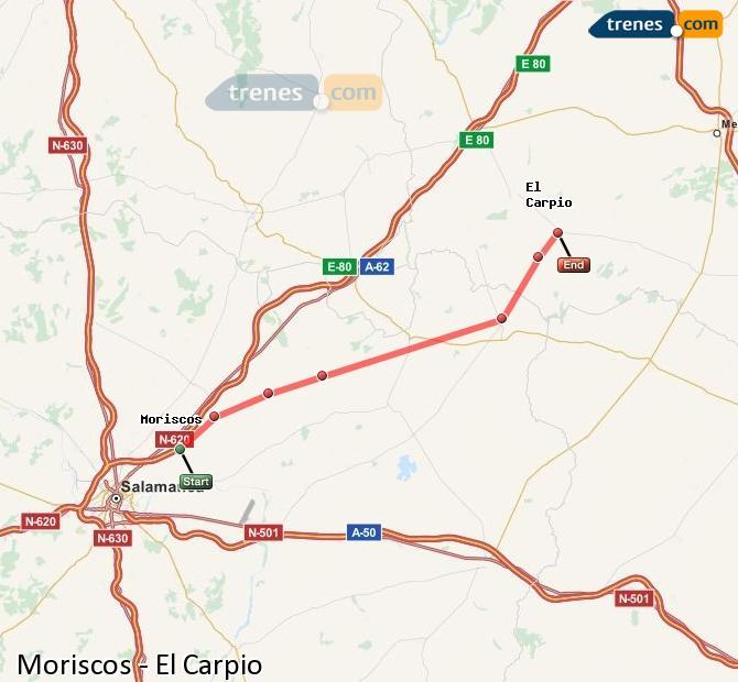 Karte vergrößern Züge Moriscos El Carpio