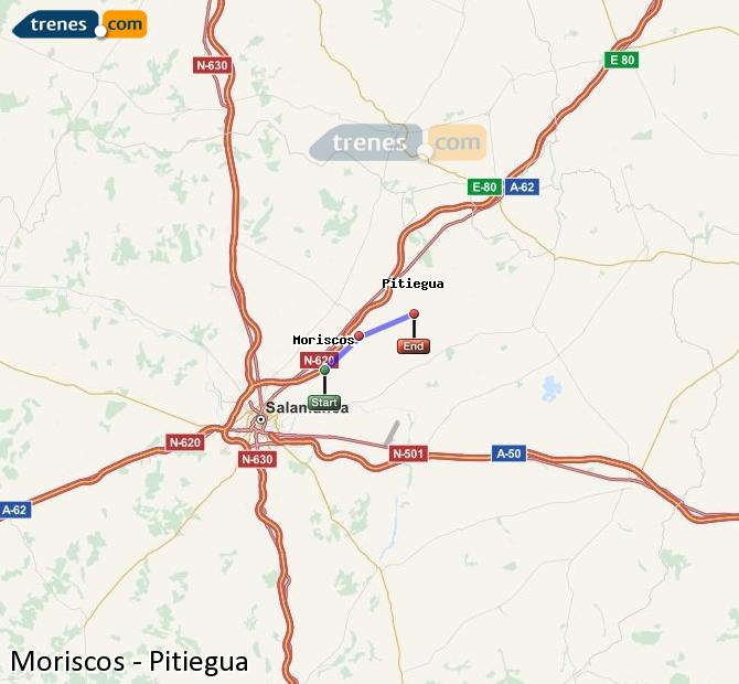 Enlarge map Trains Moriscos to Pitiegua
