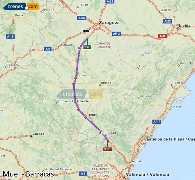 Ingrandisci la mappa Treni Muel Barracas