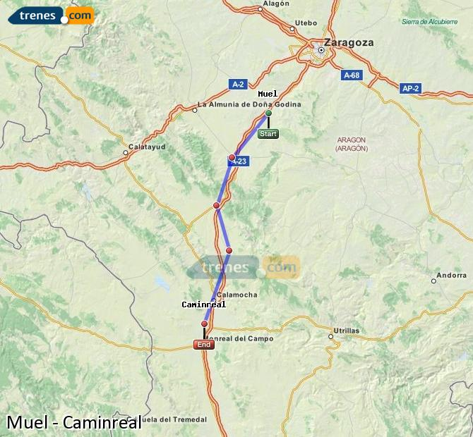 Enlarge map Trains Muel to Caminreal