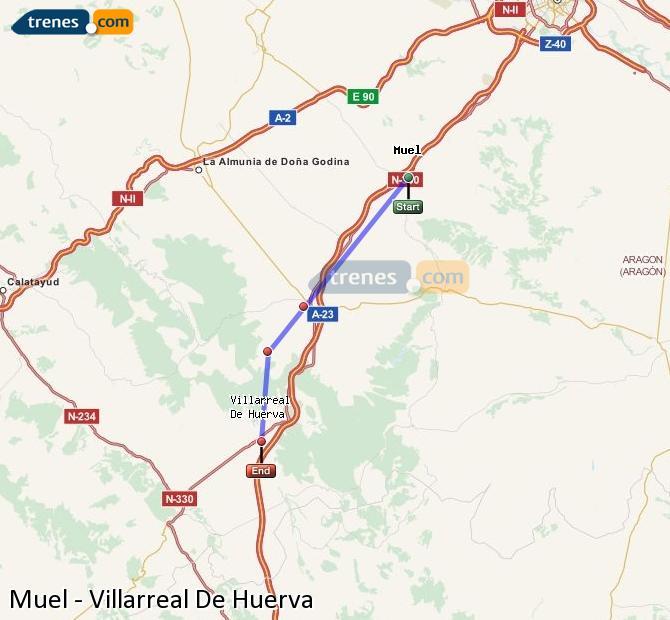 Ingrandisci la mappa Treni Muel Villarreal De Huerva