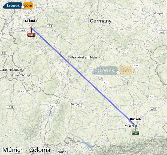 Günstige München Köln Züge Zugtickets Ab 6440 Trenescom