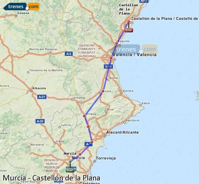 Trenes Murcia Castellon Baratos Billetes Desde 23 15 Trenes Com