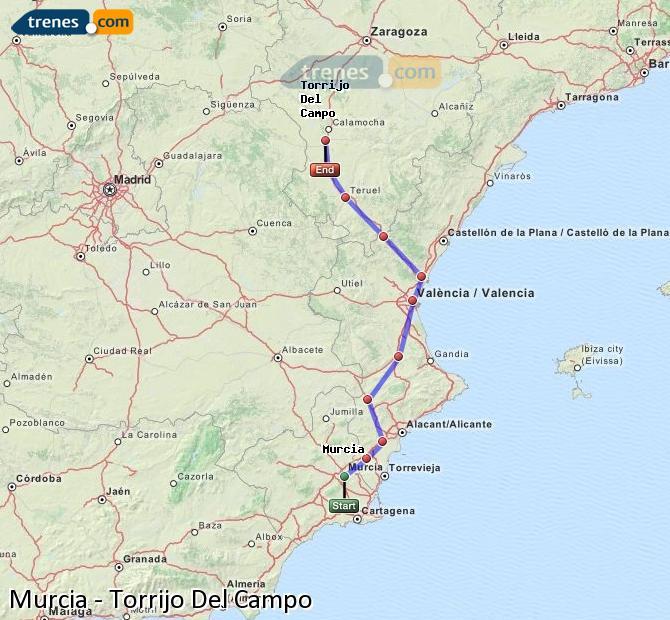 Ampliar mapa Trenes Murcia Torrijo Del Campo