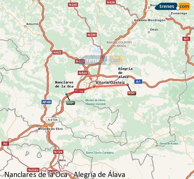 Ingrandisci la mappa Treni Nanclares de la Oca Alegría de Álava
