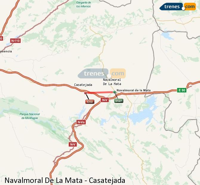 Karte vergrößern Züge Navalmoral De La Mata Casatejada