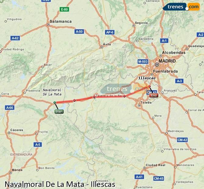 Ingrandisci la mappa Treni Navalmoral De La Mata Illescas