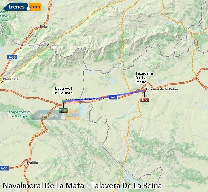 Agrandir la carte Trains Navalmoral De La Mata Talavera De La Reina