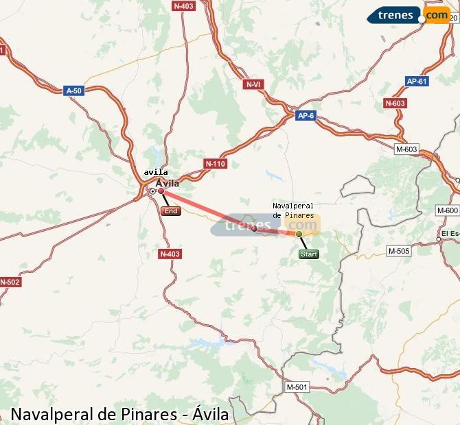 Karte vergrößern Züge Navalperal de Pinares Ávila
