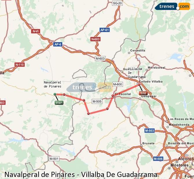 Ampliar mapa Trenes Navalperal de Pinares Villalba De Guadarrama