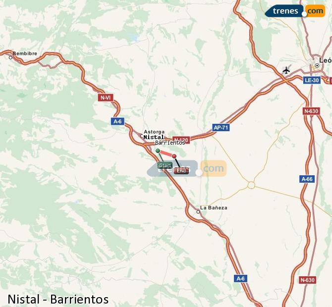 Ampliar mapa Trenes Nistal Barrientos