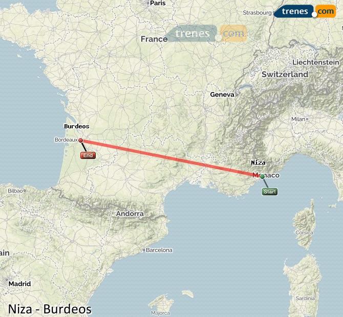 Ampliar mapa Trenes Niza Burdeos