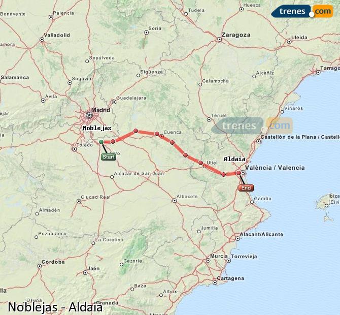 Ingrandisci la mappa Treni Noblejas Aldaia