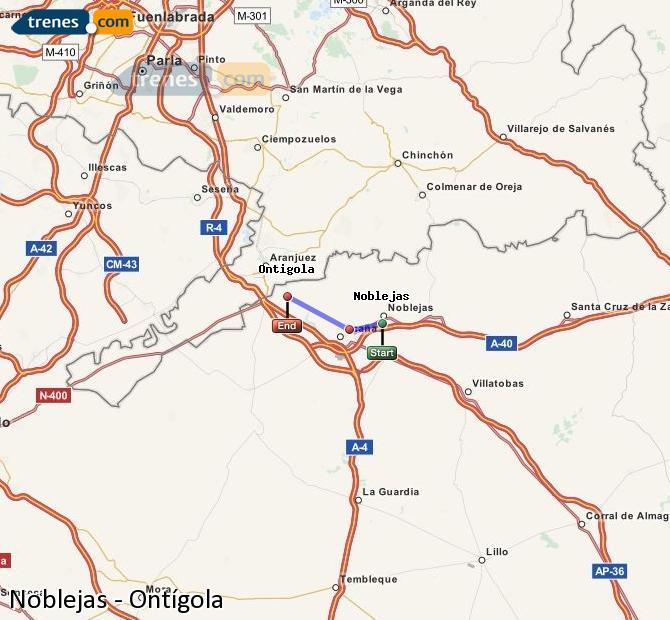 Ampliar mapa Comboios Noblejas Ontígola