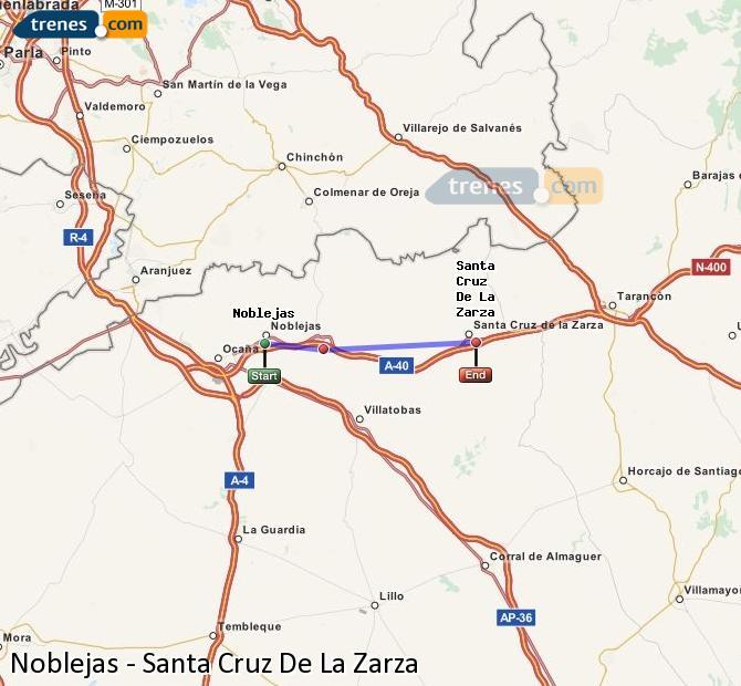 Ampliar mapa Trenes Noblejas Santa Cruz De La Zarza