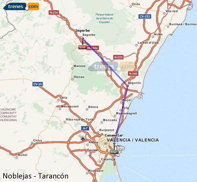 Enlarge map Trains Noblejas to Tarancon
