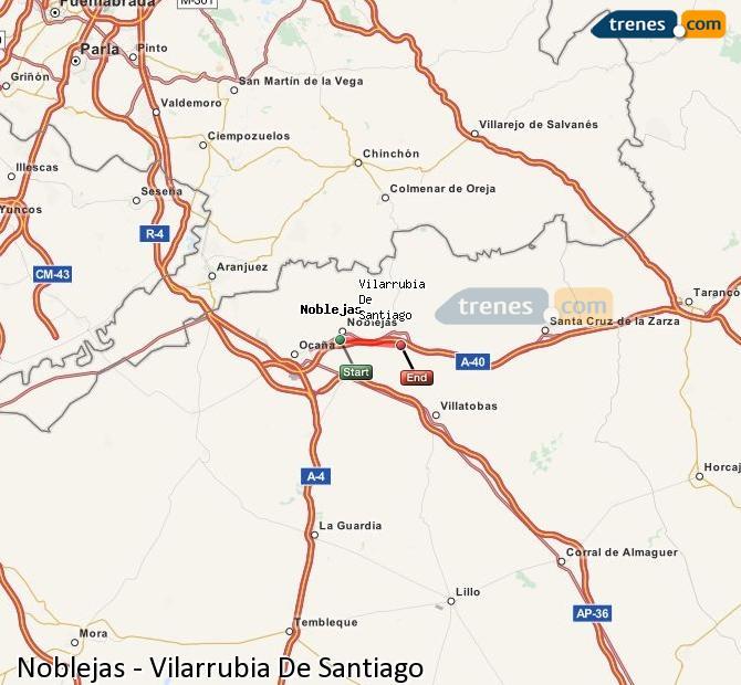 Ampliar mapa Comboios Noblejas Vilarrubia De Santiago
