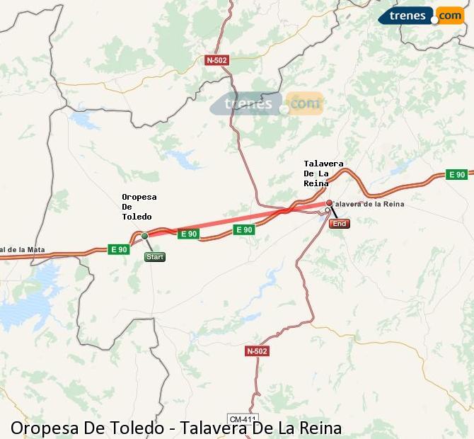 Karte vergrößern Züge Oropesa De Toledo Talavera De La Reina