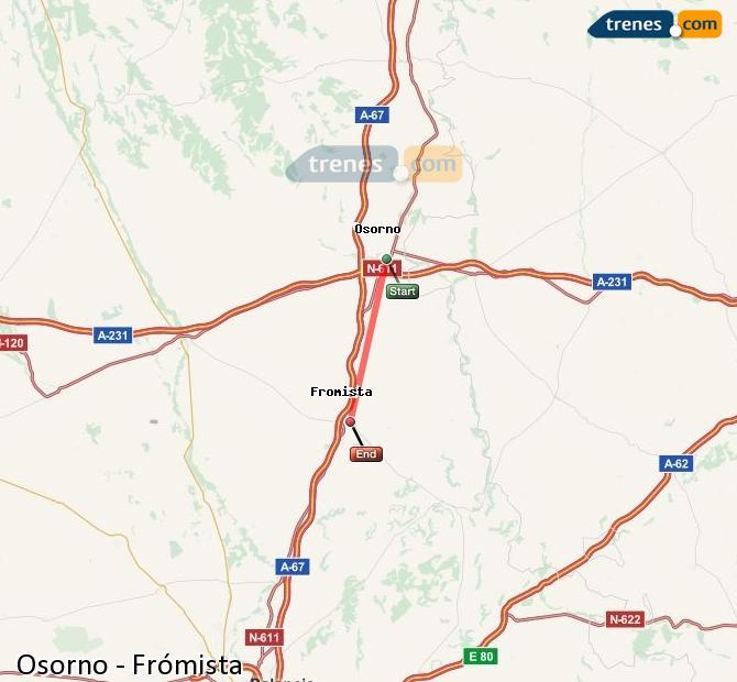 Ingrandisci la mappa Treni Osorno Frómista