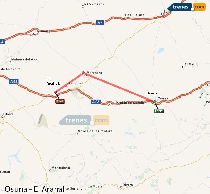 Karte vergrößern Züge Osuna El Arahal