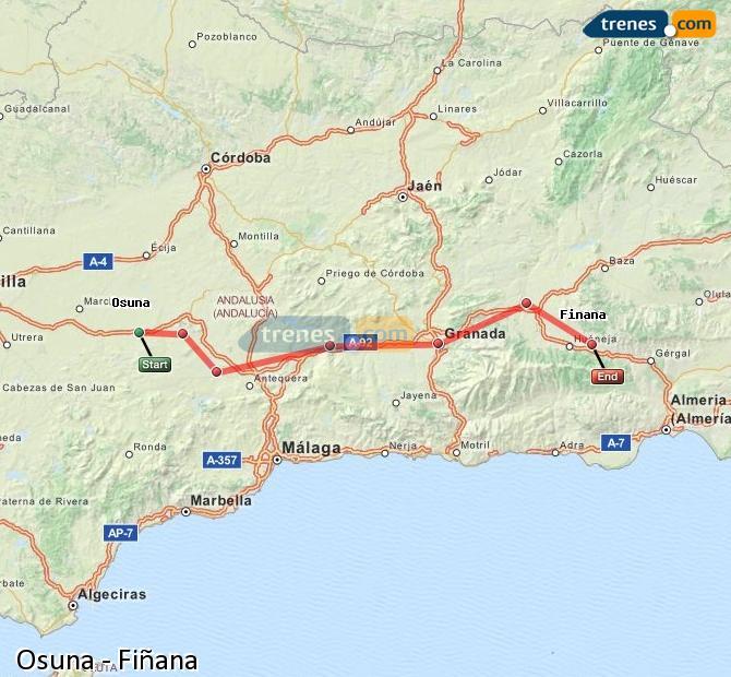 Ingrandisci la mappa Treni Osuna Fiñana