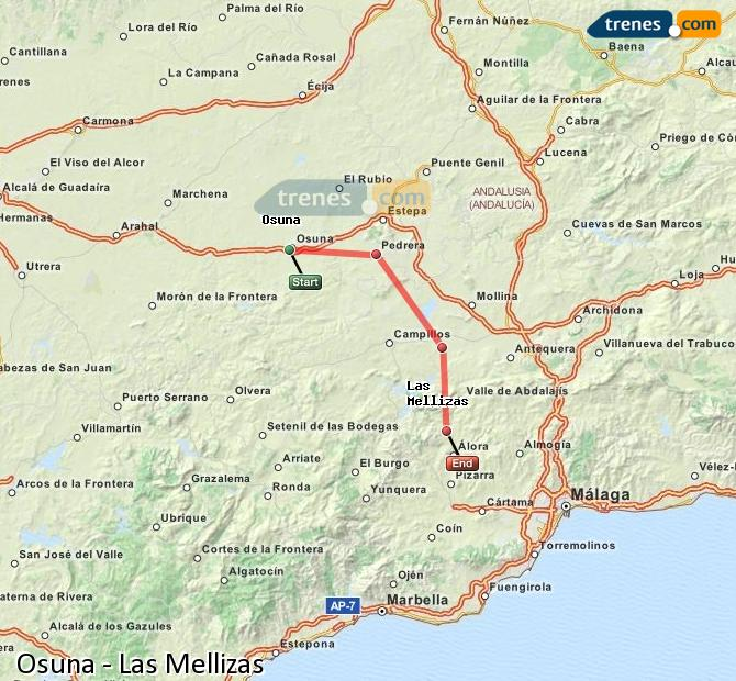 Enlarge map Trains Osuna to Las Mellizas