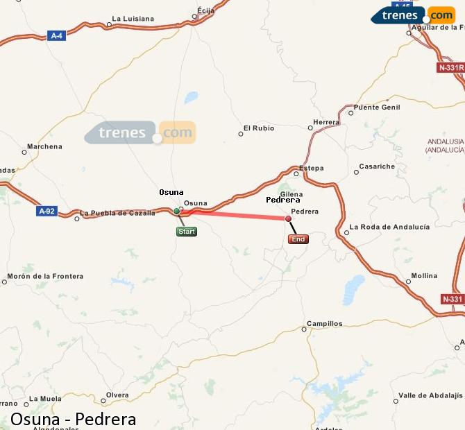 Enlarge map Trains Osuna to Pedrera