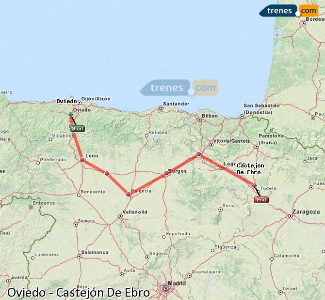 Ingrandisci la mappa Treni Oviedo Castejón De Ebro