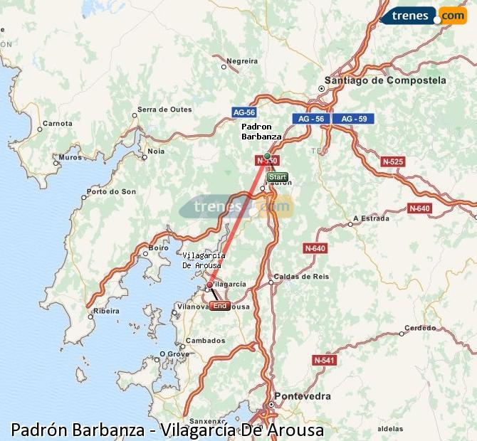 Ingrandisci la mappa Treni Padrón-Barbanza Vilagarcía De Arousa