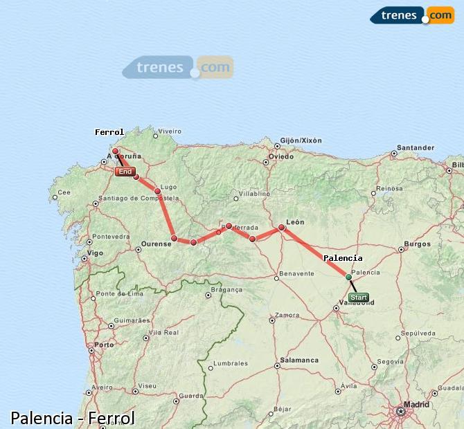 Trenes Palencia  Ferrol