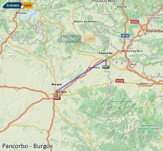 Agrandir la carte Trains Pancorbo Burgos