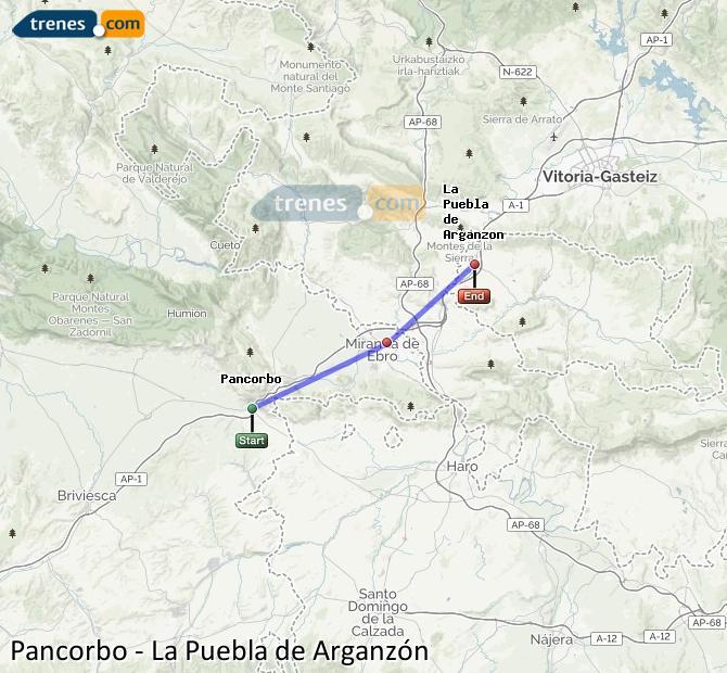 Karte vergrößern Züge Pancorbo La Puebla de Arganzón
