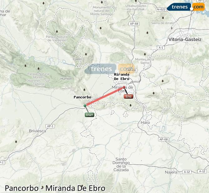 Agrandir la carte Trains Pancorbo Miranda De Ebro