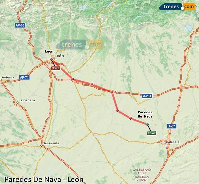 Karte vergrößern Züge Paredes De Nava León