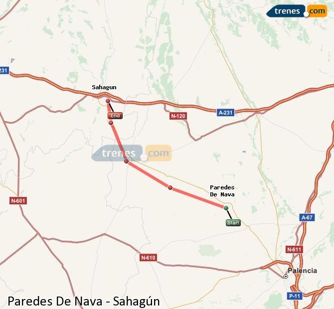 Karte vergrößern Züge Paredes De Nava Sahagún