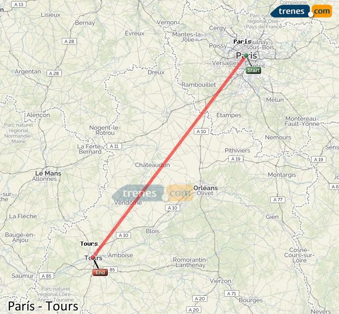 Karte vergrößern Züge Paris Touren
