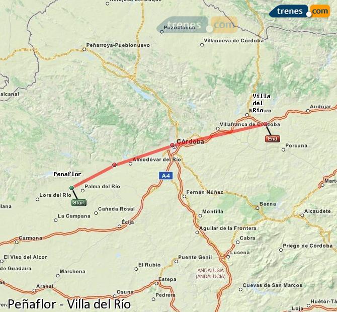 Enlarge map Trains Peñaflor to Villa del Rio