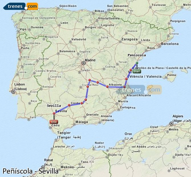 Cheap Peniscola To Seville Trains Tickets From 29 15 Trenes Com