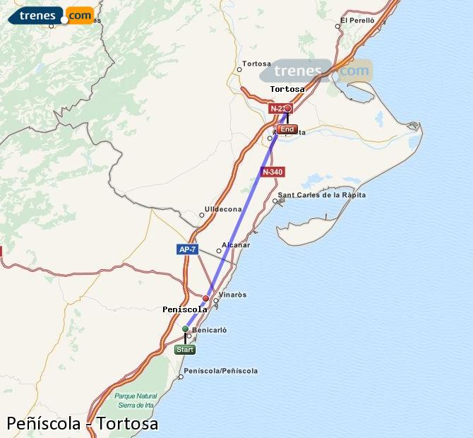 Cheap Peniscola To Tortosa Trains Tickets From 3 80 Trenes Com