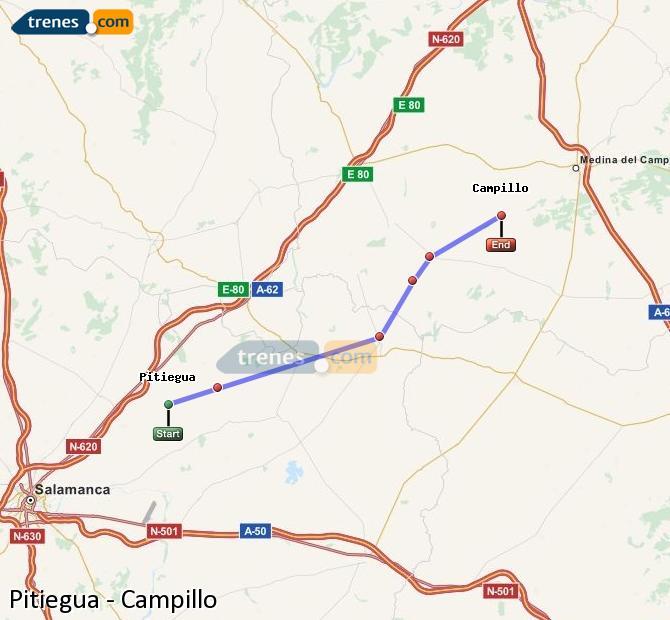 Karte vergrößern Züge Pitiegua Campillo