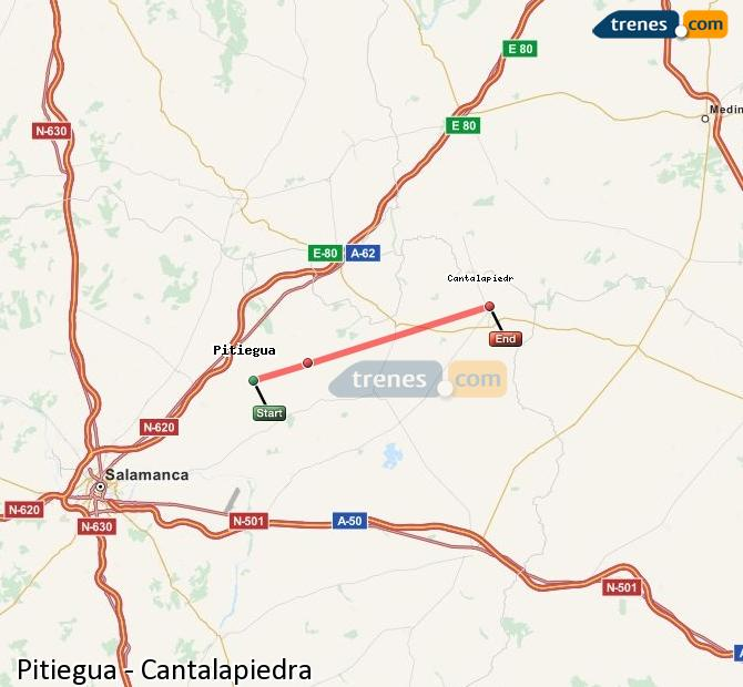Ingrandisci la mappa Treni Pitiegua Cantalapiedra