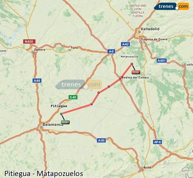 Ingrandisci la mappa Treni Pitiegua Matapozuelos