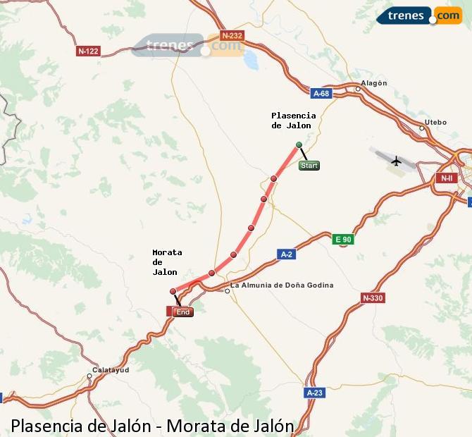 Karte vergrößern Züge Plasencia de Jalón Morata de Jalón