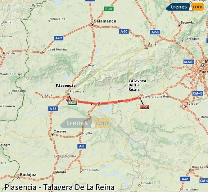 Agrandir la carte Trains Plasencia Talavera De La Reina