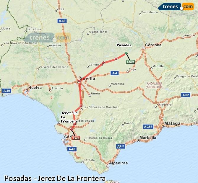 Ingrandisci la mappa Treni Posadas Jerez De La Frontera