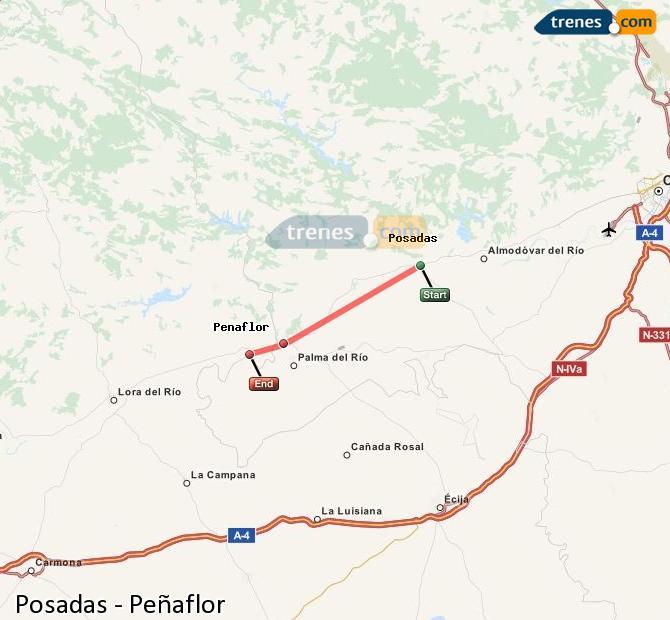 Ingrandisci la mappa Treni Posadas Peñaflor