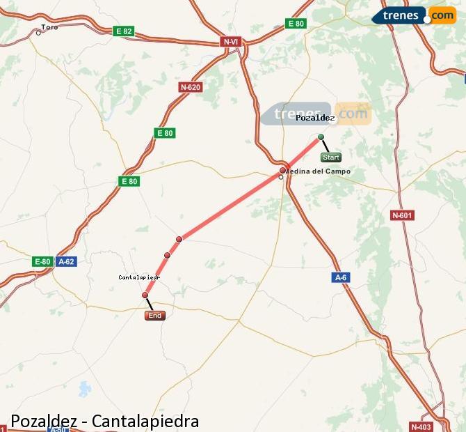 Ingrandisci la mappa Treni Pozaldez Cantalapiedra
