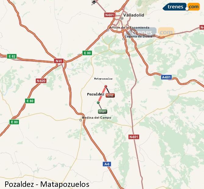 Ingrandisci la mappa Treni Pozaldez Matapozuelos