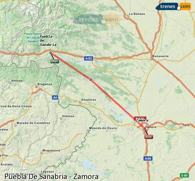 Karte vergrößern Züge Puebla De Sanabria Zamora